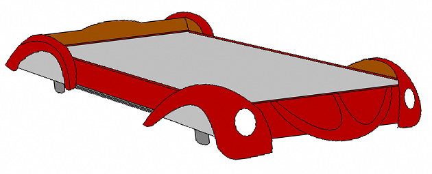 blueprint car bed